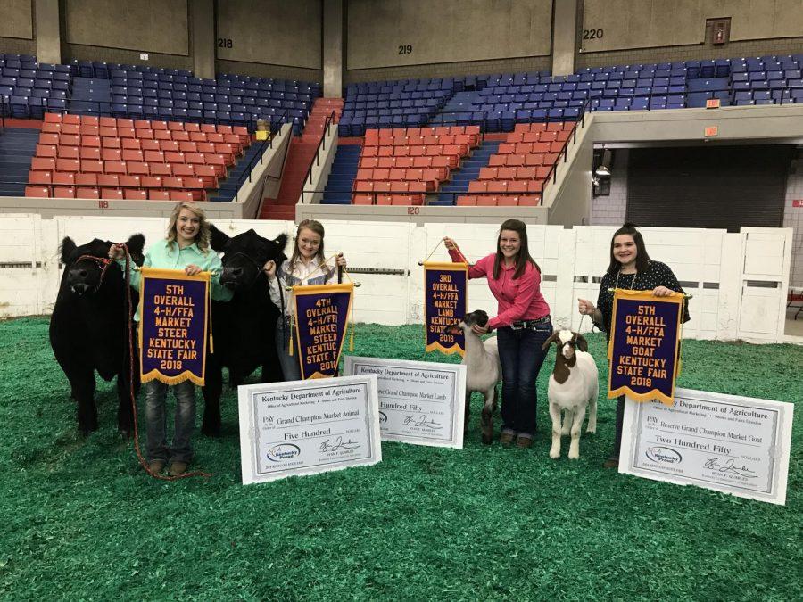 Bourbon County FFA students accept awards