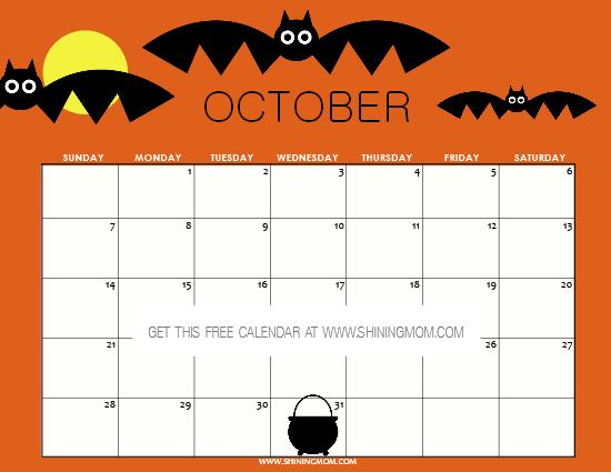 October Event Calendar
