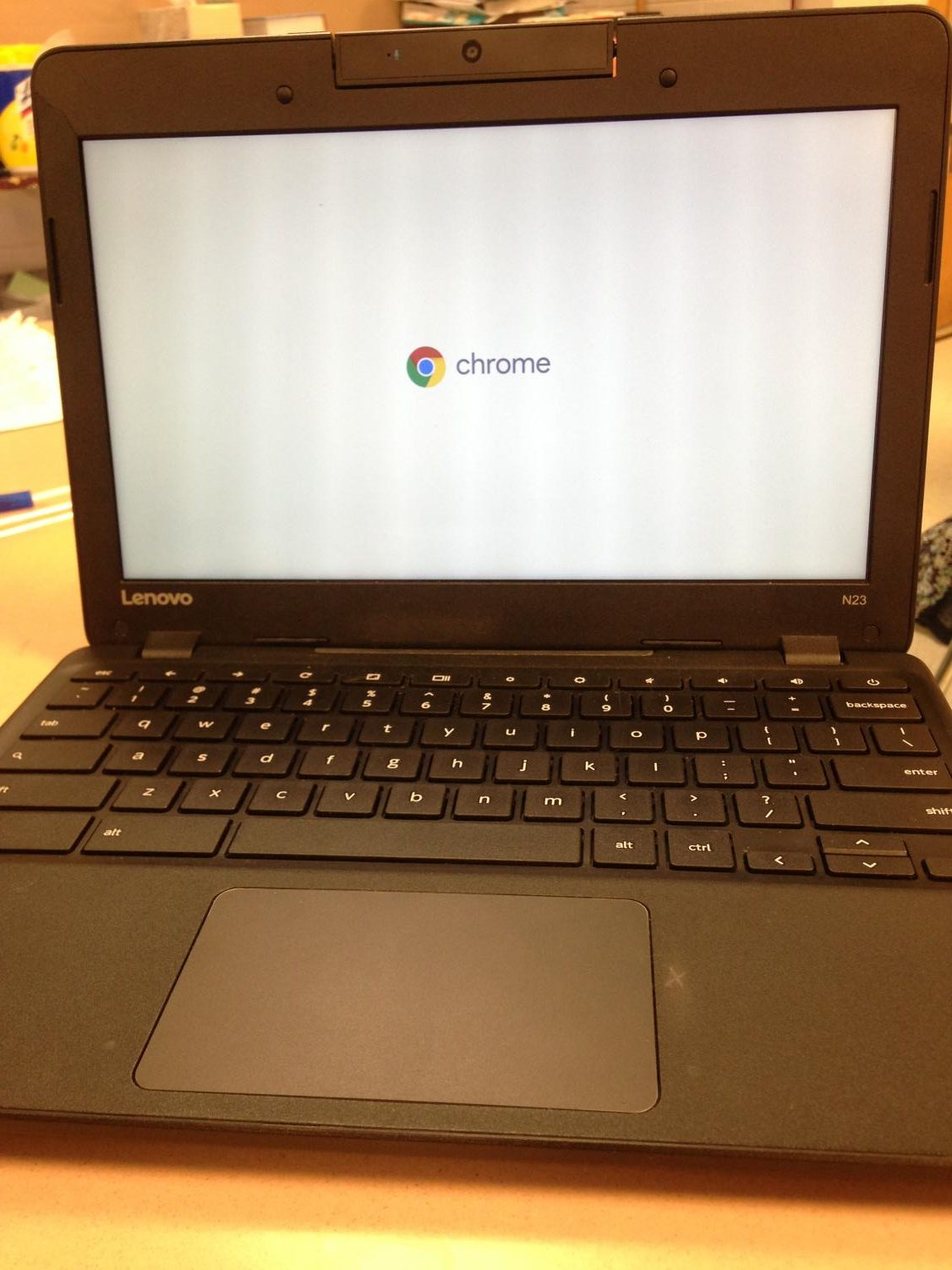 Chromebook used at BCHS.