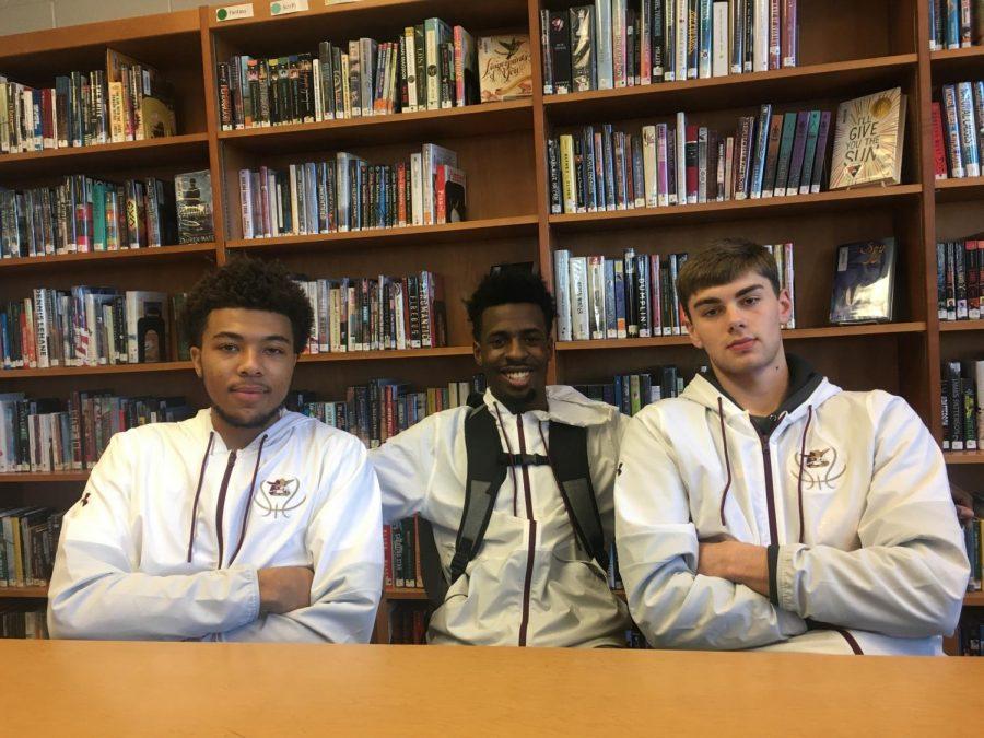 (left to right) Nate Mack, Nakyir Joyce, and Jack huckabay