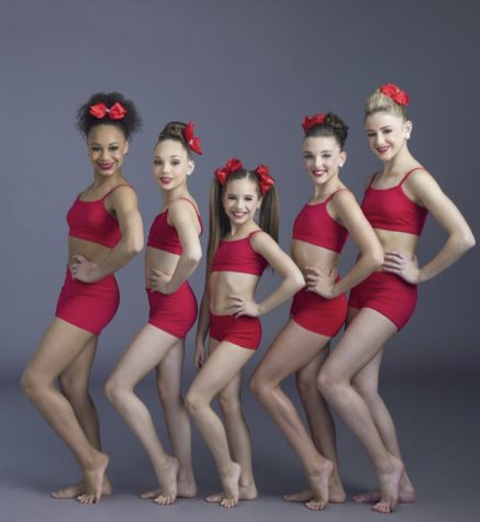 The season five ALDC competition dancers pose for a photo shoot.