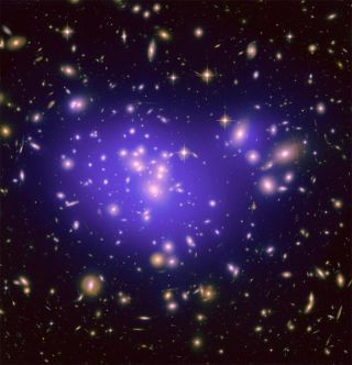 Image of Able 1689 most famous for it's gravitational lensing.