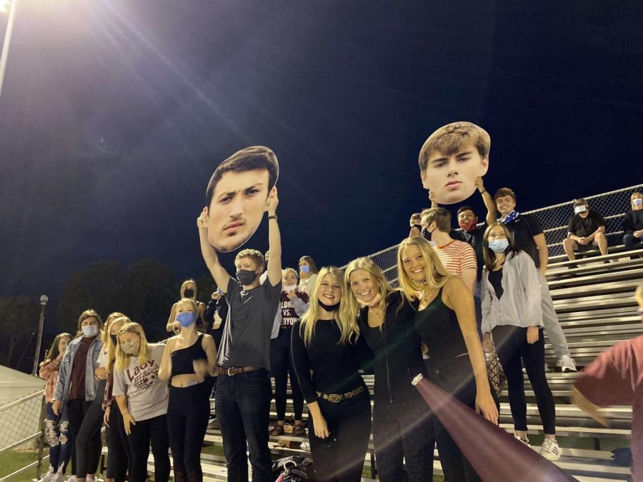 BCHS students, masked up, at the home football game this Friday against Ashland.