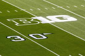 This is the Big 10 logo located on the football field of every Big 10 campus.