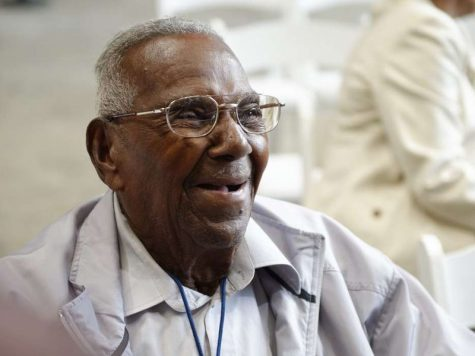 Lawrence Brooks at his 110th birthday party