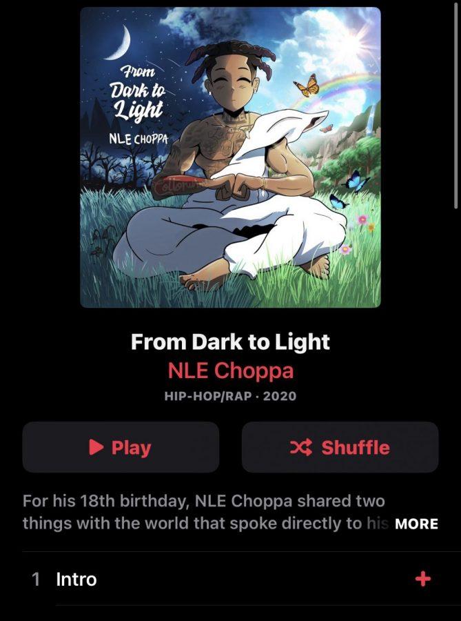 Screenshot of NLE Choppas Album From Dark to Light