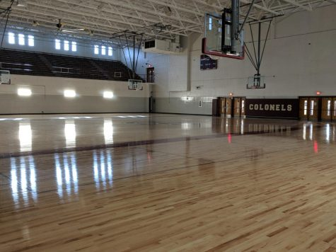 This is the basketball gym located on the campus of Bourbon County High School