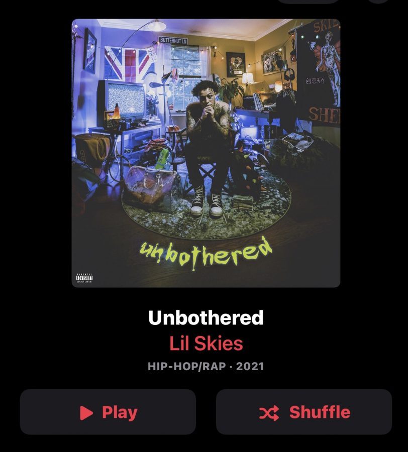 Screenshot from Apple Music of Lil Skies Album 'Unbothered'
