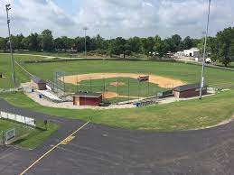 This a baseball field located on the campus of Bourbon County High School.