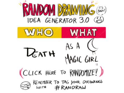 An example of a randomized drawing prompt.