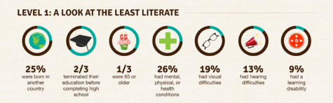 Illiteracy infographic via Central Minnesota Library Exchange