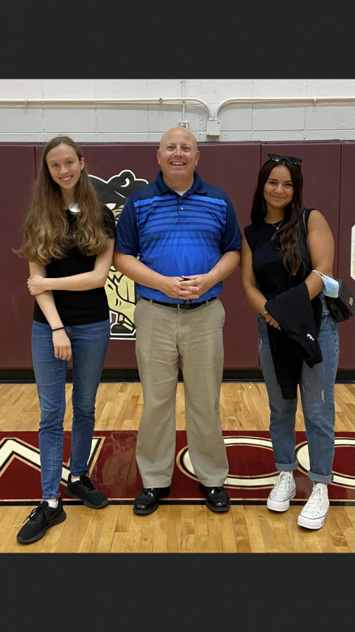 The two new foreign exchange students plus the principal of BCHS! Left to right: Antonia Bader, Shane Mitchell, Valeria Principi (photo credits to Shane Mitchell)