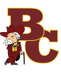 This image is the Bourbon County mascot alongside the name of the school!
