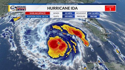 A breakdown of the weather pattern of Hurricane Ida, courtesy of WKRG, Gulf Coast News.
