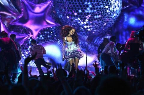 Olivia Rodrigo performing her hit song at the 2021 VMAS