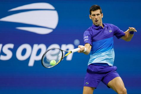 NEW YORK, NEW YORK - AUGUST 31: Novak Djokovic of Serbia